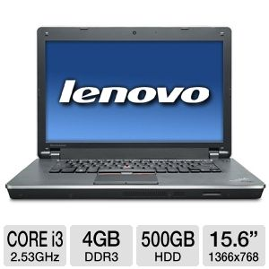 "Lenovo ThinkPad 15.6"" Core i3 500GB Notebook"