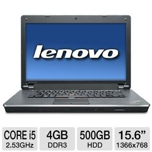 "Lenovo 15.6"" Core i5 500GB HDD Notebook REFURB"