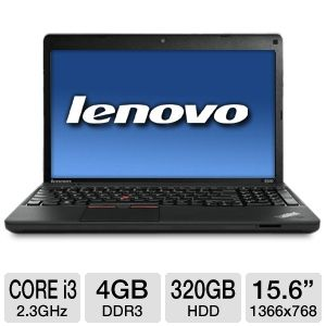 "Lenovo 15.6"" Core i3 320GB HDD Notebook REFURB"