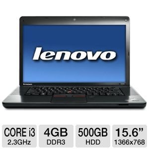 "Lenovo 15.6"" Core i3 500GB HDD Notebook"