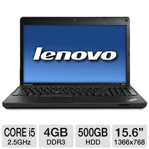 "Lenovo 15.6"" Core i5 500GB HDD Notebook"