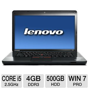 "Lenovo ThinkPad 15.6"" Core i5 500GB HDD Laptop"