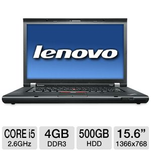 "Lenovo ThinkPad 15.6"" Core i5 500GB HDD Notebook"