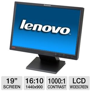 "Lenovo ThinkVision L197w 19"" LCD HD Monitor"
