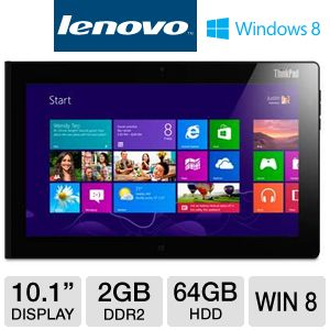 Lenovo 10.1&quot; Atom 64GB ThinkPad Tablet 2