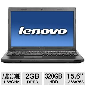 "Lenovo 15.6"" AMD Dual-Core 320GB HDD Notebook"