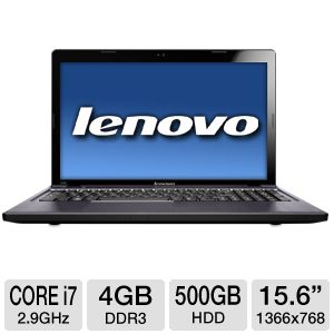 "Lenovo 15.6"" Core i7 500GB HDD Notebook"