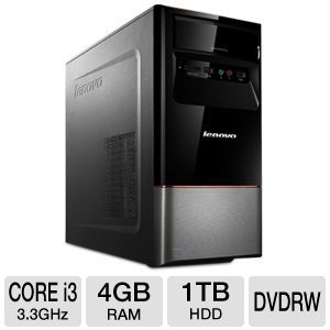 Lenovo H430 Core i3, 1TB HDD, 4GB RAM, Desktop PC