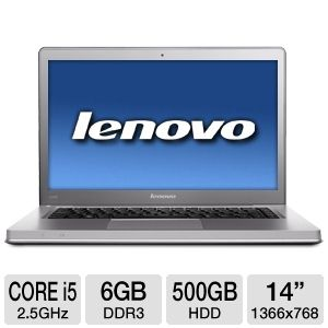 "Lenovo IdeaPad 14"" Core i5 500GB HDD Notebo REFURB"