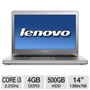 "Lenovo IdeaPad U400 14"" Gray Notebook REFURB"