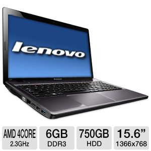 "Lenovo IdeaPad 15.6"" AMD Quad-Core 750GB Notebook"