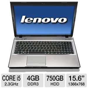 "Lenovo IdeaPad Z570 15.6"" Gray Notebook REFURB"