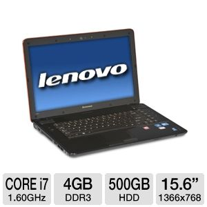 "Lenovo IdeaPad Y560 15.6"" 3D-Ready Notebook REFURB"