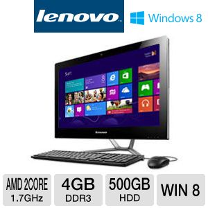 Lenovo C345 AMD E2 500GB HDD 4GB RAM All-In-One PC