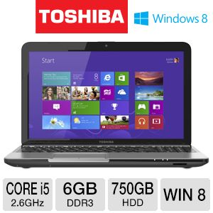 "Toshiba L855-S5155 15.6"" Core i5 750GB Notebook"