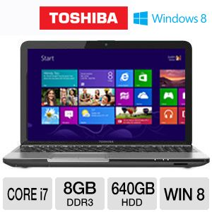 "Toshiba Satellite 15.6"" Core i7 640GB HDD Notebook"