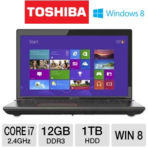 "Toshiba Qosmio X875 17.3"" Core i7 1TB Notebook"