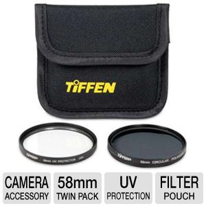 Tiffen 58PTP 58mm Photo Twin Pack