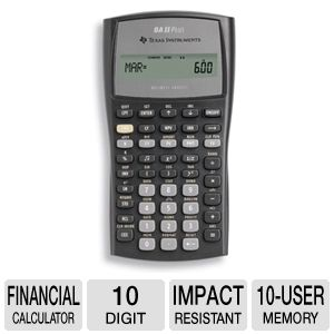 Texas Instruments BA-II-PLUS BAII PLUS  Calculator