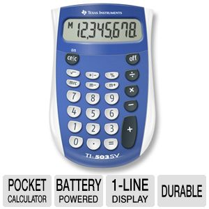 Texas Instruments TI503 503SV/FBL/4L1/A Calculator