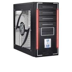 PowerUp ATX Black Mid-Tower Case with Power Supply