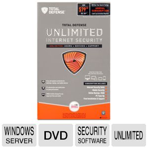 Total Defense Unlimited Security Software B REFURB