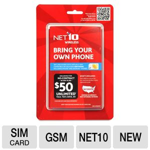 NET10 Bring Your Own Phone Sim Card