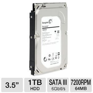 Seagate Barracuda 1 TB Internal Hard Drive