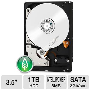 WD Green 1TB Desktop Hard Drive