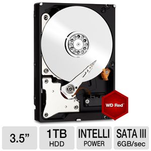 "WD Red 1TB NAS Sata 3.5"" Hard Drive"