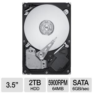 Seagate Barracuda Green 2TB Hard Drive