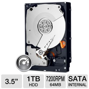 "WD Black 3.5"" SATA 2TB Desktop Hard Drive"