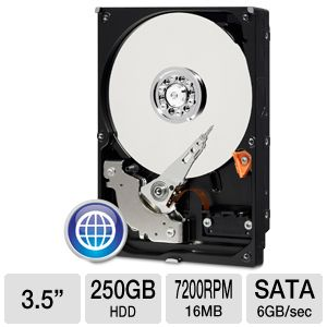 "WD Blue 250GB Sata 3.5"" Desktop Hard Drive"