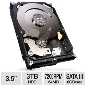 Seagate Barracuda 7200.14 3TB SATA III Hard Drive