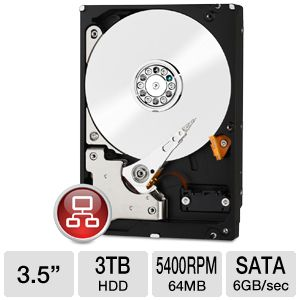 "WD Red 3TB Nas Sata 3.5"" Hard Drive"