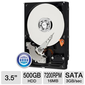 "WD Blue 3.5"" SATA 500GB Desktop Hard Drive"