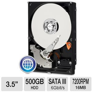 "WD Blue 500GB Sata 3.5"" Desktop Hard Drive"