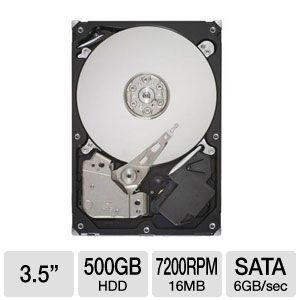 "Seagate Barracuda 500GB SATA6G 3.5"" Internal HDD"