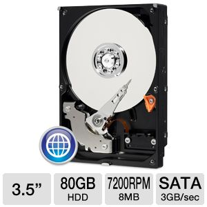 "WD Blue SATA 3.5"" 80GB Desktop Hard Drive"