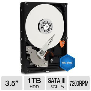 WD Blue 1TB Desktop Hard Drive w/ 2YR Warranty