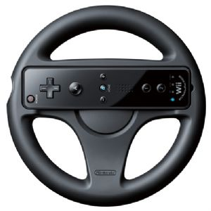 Wii Wheel-Black [NOA]