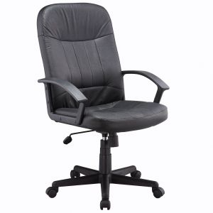 This executive leather office chair provides excep