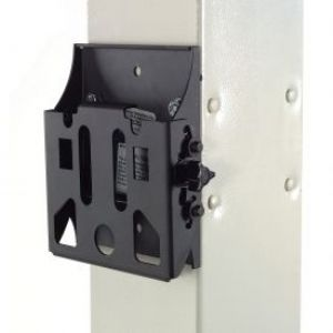 The VESA mount accommodates any flat panel monitor