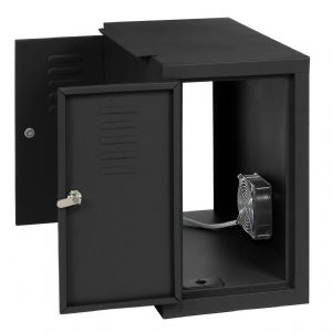 This side cabinet holds CPU towers safely and secu