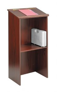 This elegant mobile podium features a sturdy 3/4""