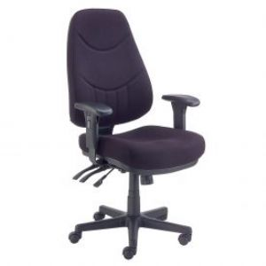 This fabric upholstered office chair is fully adju