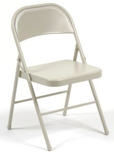 All steel folding chair features a heavy duty 7/8""