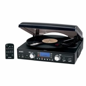 Jensen JTA460 3-Speed Stereo Turntable w