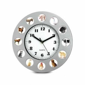 Fineline 00665 Animal Farm Clock