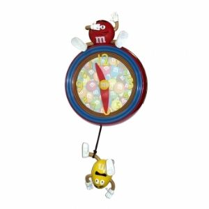 M&M's M9WC1 Pendulum Wall Clock